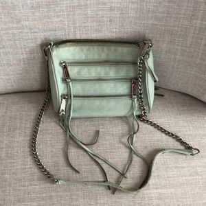 Rebecca Minkoff Crossbody zipper bag (Mint) 🍃